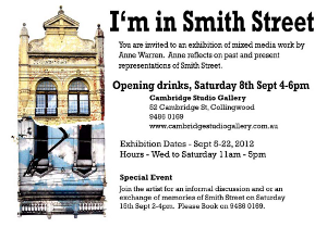 A thumbnail of the flyer for I'm In Smith St exhibition