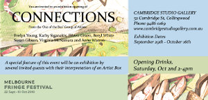 Thumbnail image of the flyer for the Connections exhibition.