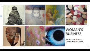 A thumbnail of the flyer for Woman's Business exhibition